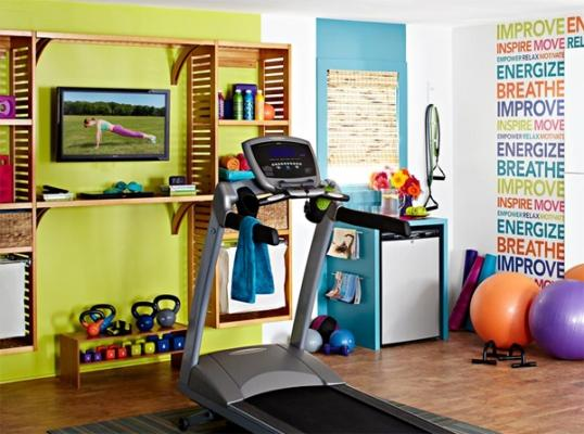 Angolo per il fitness in camera, da homemydesign.com