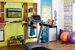 Angolo per il fitness in camera, da homemydesign.com
