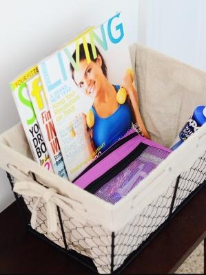 Scatole e ceste per gli accessori da fitness in casa, by abowlfulloflemons.net