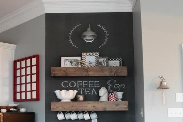 La vernice effetto lavagna è ideale per rendere individuabile il nostro tea corner