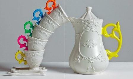 Le tazze da tè I-Wares di Seletti nei colori fluo di maggiore tendenza