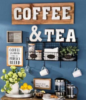 Lettere e stickers rendono subito visibile il proprio tea corner