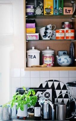 Tutto a portata di mano nel proprio tea corner