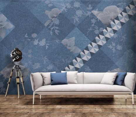 Jeans di Carta da Parati Artistica dona un nuovo look alle pareti
