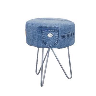 Lo sgabello della collezione Deep Blue Jeans de La Maison Coloniale