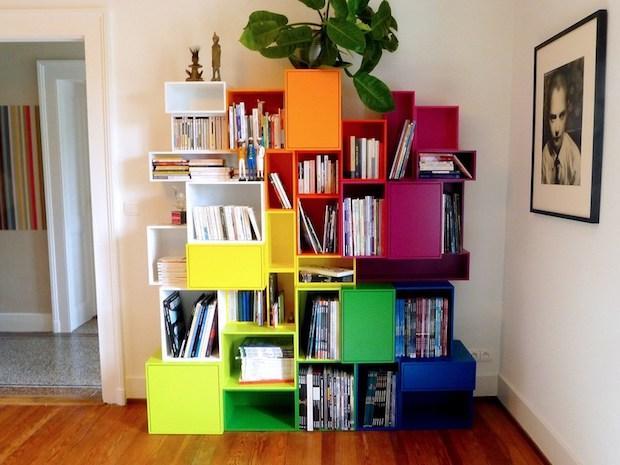 Libreria modulare colorata cubica, da Mymito