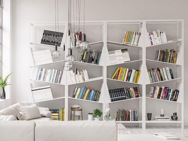 Libreria modulare dinamica, da Filodesign