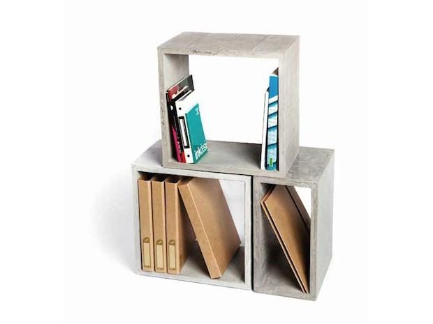 Libreria componibile in cemento, da Urbi et Orbi