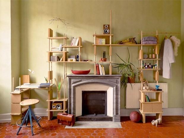Sistema componibile in legno e sughero, da smarin
