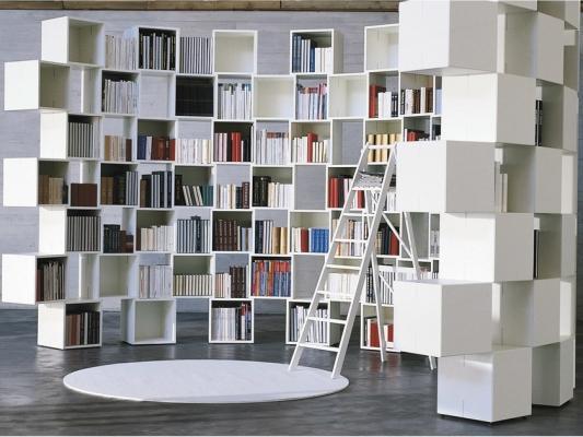 Libreria autoportante modulare, da Lago