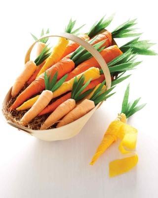 Cesto di carote fai da te, da marthastewart.com