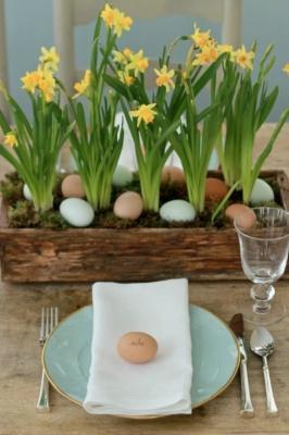 Un uovo come segnaposto per gli invitati, da blog.williams-sonoma.com