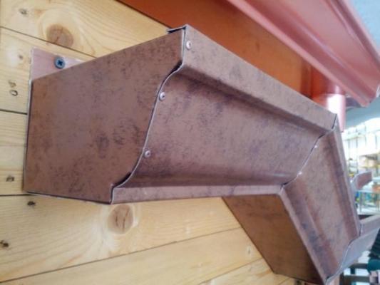Grondaia in alluminio a sezione quadrata di Grondeinrame con finitura anticata