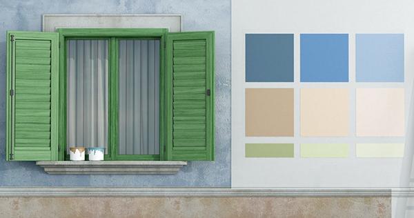 Cheap prove di colore sulla facciata da tinteggiare la for Banca della calce
