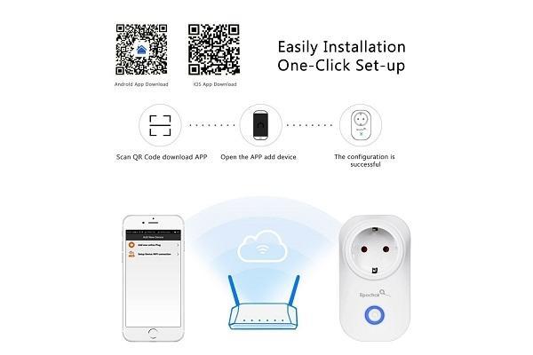 Installazione presa elettrica wi fi EpochAir