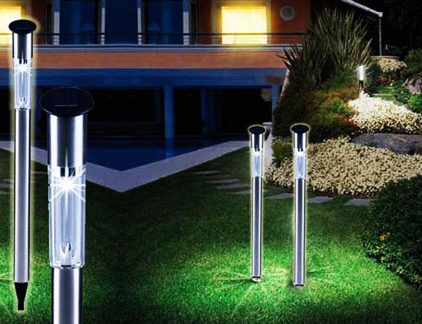 Luci fotovoltaiche da giardino