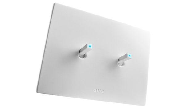 Placche di design per un impianto elettrico minimal: AVE New Style 44 in Corian®