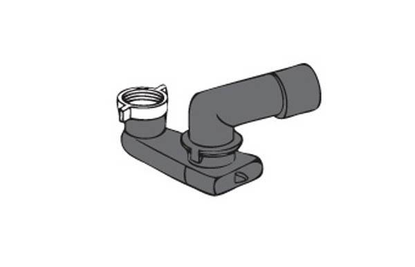 Sifone ribassato orientabile in pehd per vasca- Ravanisifoni