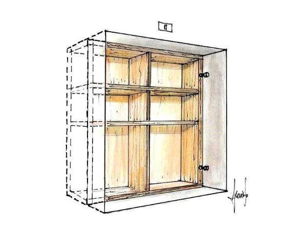 Costruire un nascondiglio in legno da muro