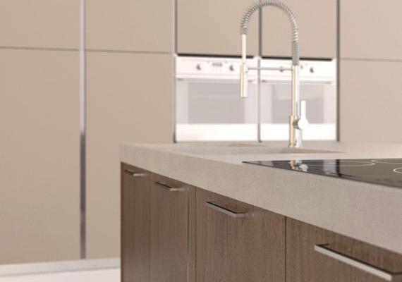 Maniglie di design Mital, per cucine moderne
