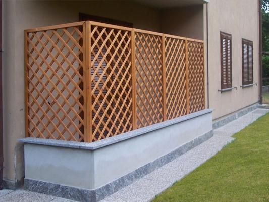 Pannelli grigliati di legno di Solartende