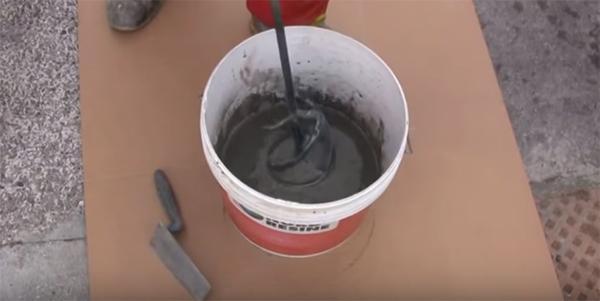 La preparazione del cemento osmotico, Nord Resine