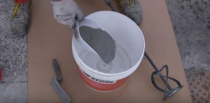 Il dosaggio della malta osmotica prima della preparazione, Nord Resine