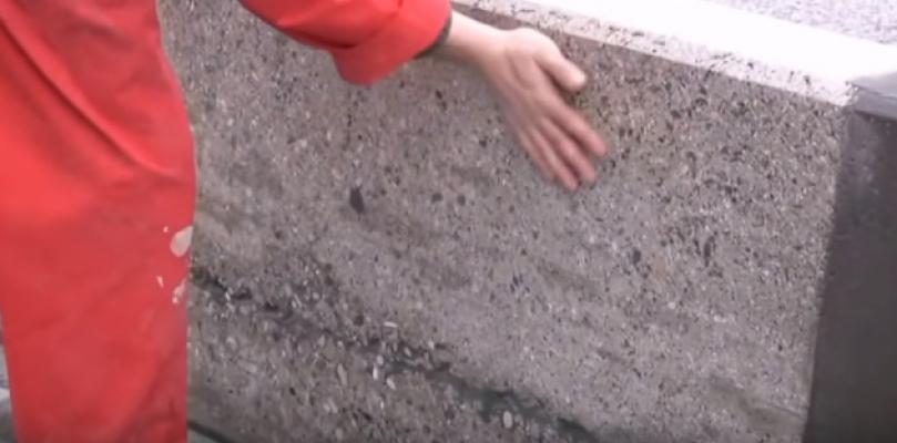 La superficie trattata per l'applicazione del cemento osmotico, Nord Resine