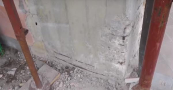 Degrado di un pilastro di cemento armato, Diasen
