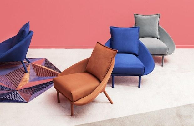 Seduta imbottita e colorata, da Miniforms