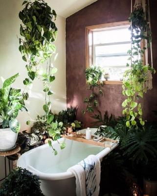 In bagno, ogni angolo diventa green, dal blog Architempore