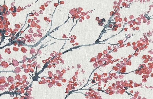 Il tappeto Sakura prodotto da Illulian per la Design Collection