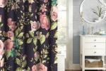 Decori floreali conquistano il bagno