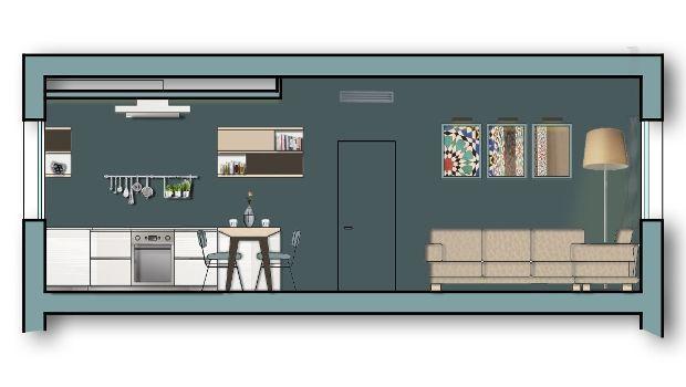 Ampliare il soggiorno: idea progettuale per una zona giorno open space