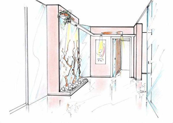 Idea d'arredo per ingresso corridoio e disimpegno