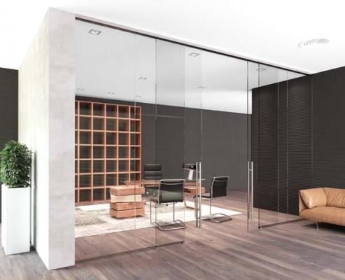 Porte trasparenti a tutta altezza per spazi di passaggio, by MR Art Design