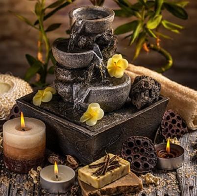 Una fontana zen aiuta a meditare e a rilassarsi
