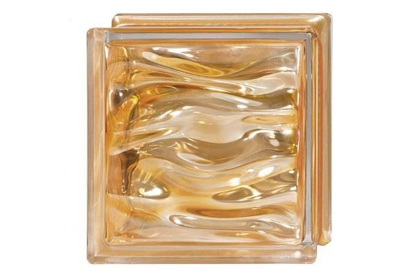 Mattoni di vetro Agua Perla Ambra