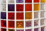 Parete circolare in mattoni di vetro