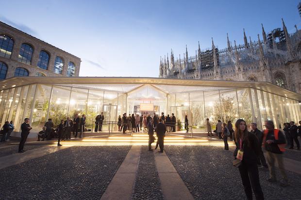 Living Nature, l'installazione in piazza Duomo per il Salone del Mobile