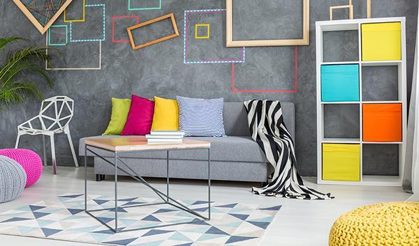 Intervento di home relooking basto sui colori e molta creatività