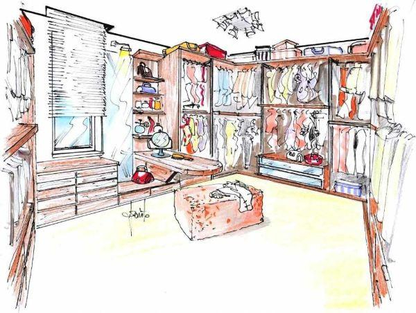 Il locale guardaroba progetto d 39 arredo - I mobili nel guardaroba ...