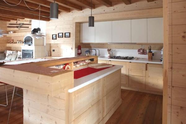 Bancone isola di cucina open space DGM Arredi