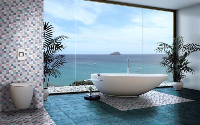 Rivestimenti bagno con piastrelle vetrificate Cerasarda