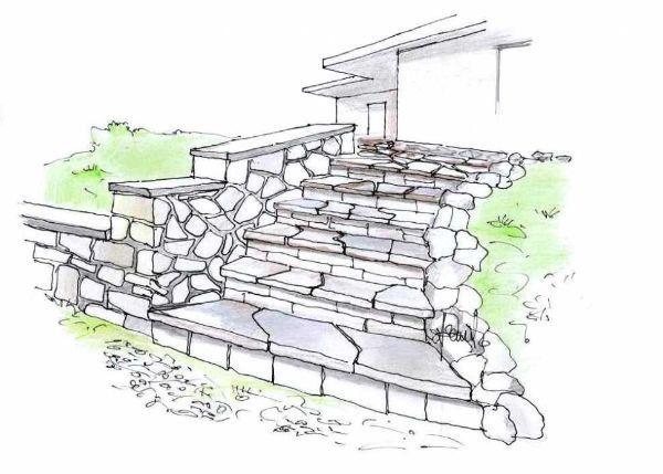 Estremamente Scala esterna in pietra naturale VC68