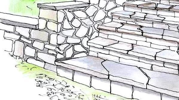 Scala in pietra naturale per esterni