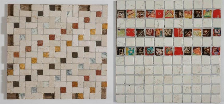 Preziosi mosaici de I Ciottoli di Marmo per la creazione di soglie decorative