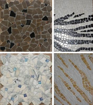 Accostare pavimenti differenti in corrispondenza di una soglia for Mosaici in marmo per pavimenti