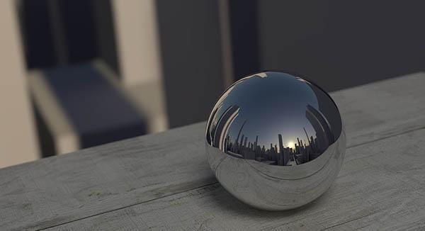 Uno specchio sferico o convesso dilata l'immagine riflessa