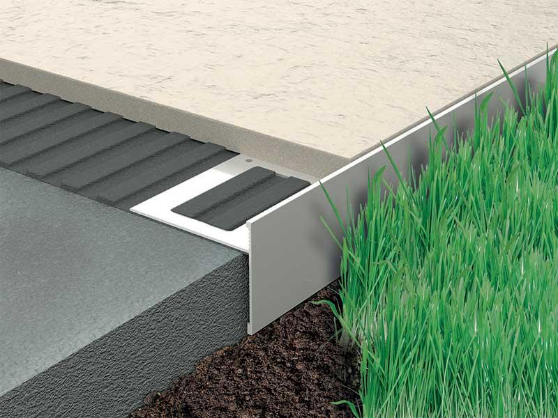 Pavimentare terrazzo esterno con Progress Profiles